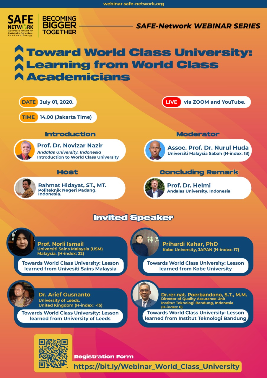 Webinar 4 Toward World Class University: Learning from World Class Academicians
