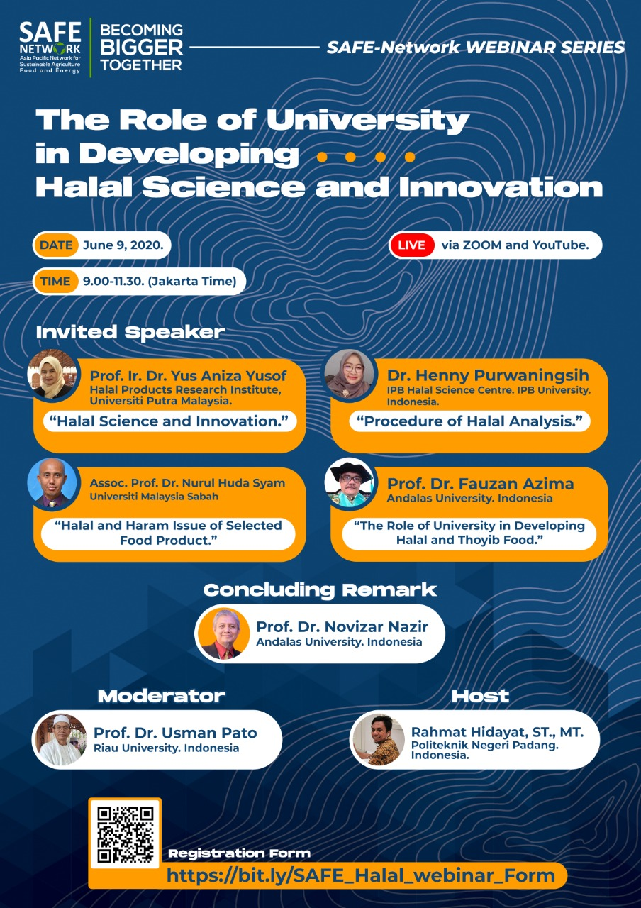 Webinar 2 The Role of University in Developing Halal Science and Innovation